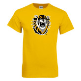 Gold T Shirt-Victor E. Tiger Distressed