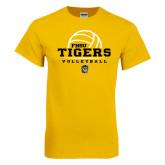 Gold T Shirt-Volleyball Design