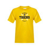Youth Gold T Shirt-Circle Seams Designs