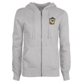 ENZA Ladies Grey Fleece Full Zip Hoodie-Victor E. Tiger