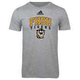 Adidas Sport Grey Logo T Shirt-Arched FHSU Tigers w/ Tiger