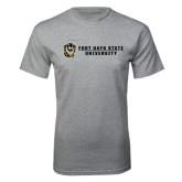 Grey T Shirt-Fort Hays State University Flat w/ Tiger