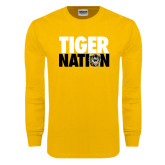 Gold Long Sleeve T Shirt-Tiger Nation