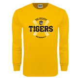 Gold Long Sleeve T Shirt-Circle Seams Designs