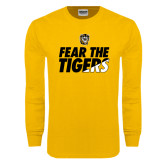 Gold Long Sleeve T Shirt-Fear The Tigers
