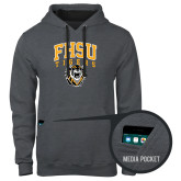 Contemporary Sofspun Charcoal Heather Hoodie-Arched FHSU Tigers w/ Tiger