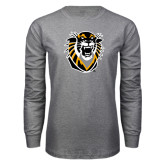 Grey Long Sleeve T Shirt-Victor E. Tiger