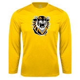 Performance Gold Longsleeve Shirt-Victor E. Tiger