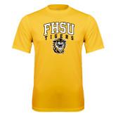 Performance Gold Tee-Arched FHSU Tigers w/ Tiger