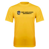 Performance Gold Tee-Fort Hays State University Flat w/ Tiger