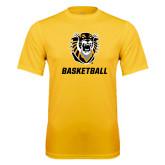 Performance Gold Tee-Basketball