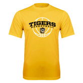Performance Gold Tee-Arched Basketball Design