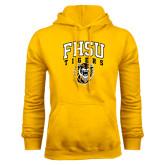 Gold Fleece Hoodie-Arched FHSU Tigers w/ Tiger