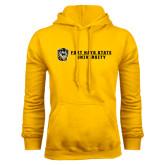 Gold Fleece Hoodie-Fort Hays State University Flat w/ Tiger