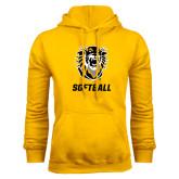 Gold Fleece Hoodie-Softball