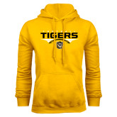 Gold Fleece Hoodie-Football Design