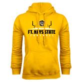 Gold Fleece Hoodie-Football Field Design