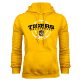 Gold Fleece Hoodie-Arched Basketball Design