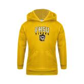 Youth Gold Fleece Hoodie-Arched FHSU Tigers w/ Tiger
