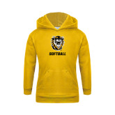 Youth Gold Fleece Hoodie-Softball