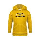 Youth Gold Fleece Hoodie-Arched Football Design