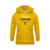 Youth Gold Fleece Hoodie-Stacked Softball Design