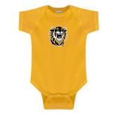 Gold Infant Onesie-Victor E. Tiger