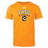 Adidas Gold Logo T Shirt-Arched FHSU Tigers w/ Tiger