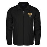 Full Zip Black Wind Jacket-Arched FHSU Tigers w/ Tiger