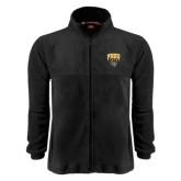 Fleece Full Zip Black Jacket-Arched FHSU Tigers w/ Tiger