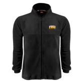Fleece Full Zip Black Jacket-Arched FHSU Tigers