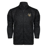 Black Heather Fleece Jacket-Victor E. Tiger