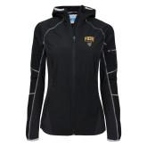 Columbia Ladies Sweet As Black Hooded Jacket-Arched FHSU Tigers w/ Tiger