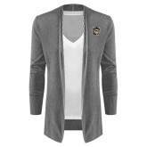 Ladies Heather Grey Open Front Cardigan-Victor E. Tiger