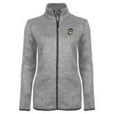 Grey Heather Ladies Fleece Jacket-Victor E. Tiger