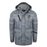 Grey Brushstroke Print Insulated Jacket-Victor E. Tiger