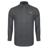 Red House Dark Charcoal Diamond Dobby Long Sleeve Shirt-Victor E. Tiger