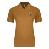 Ladies Easycare Gold Pique Polo-Arched FHSU Tigers w/ Tiger