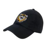 Black Twill Unstructured Low Profile Hat-Victor E. Tiger