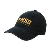 Black OttoFlex Unstructured Low Profile Hat-Arched FHSU Tigers