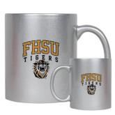 Full Color Silver Metallic Mug 11oz-Arched FHSU Tigers w/ Tiger