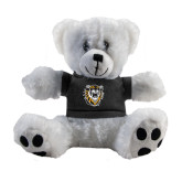 Plush Big Paw 8 1/2 inch White Bear w/Black Shirt-Victor E. Tiger