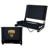 Stadium Chair Black-Arched FHSU Tigers w/ Tiger
