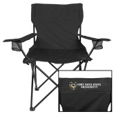 Deluxe Black Captains Chair-Fort Hays State University Flat w/ Tiger