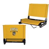 Stadium Chair Gold-Arched FHSU Tigers w/ Tiger
