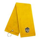 Gold Golf Towel-Victor E. Tiger