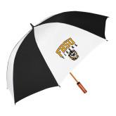 64 Inch Black/White Vented Umbrella-Arched FHSU Tigers w/ Tiger