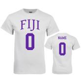 White T Shirt-FIJI Custom Tee w/ Name & Number