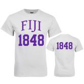White T Shirt-FIJI Tee w/ Number