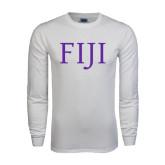 White Long Sleeve T Shirt-FIJI